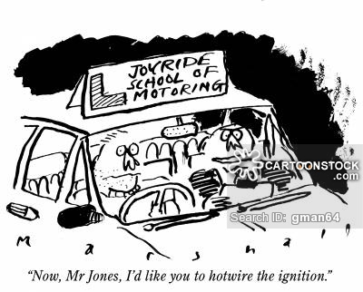 'Now, Mr Jones, I'd like you to hotwire the ignition.'